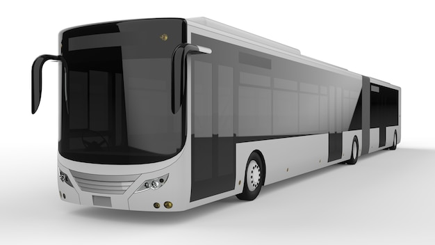 Ein großer stadtbus 3d-rendering.