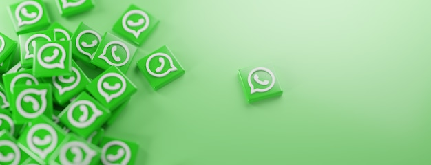 Ein haufen whatsapp-logos auf grün