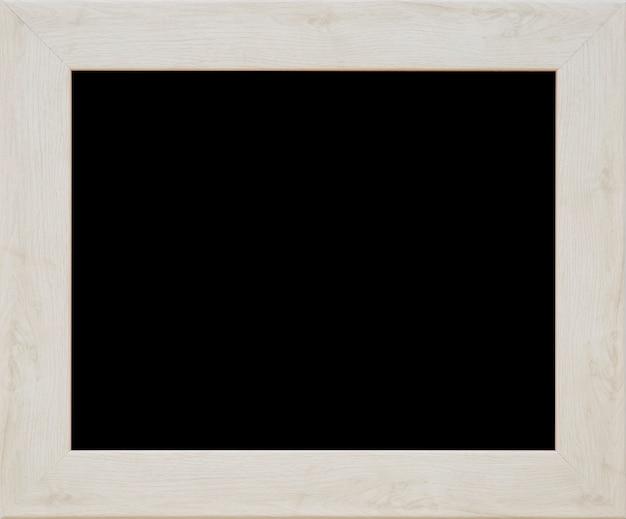 Ein hölzerner schwarzer bilderrahmen