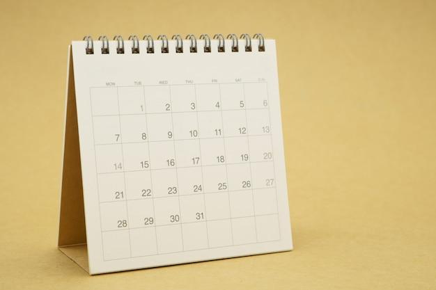 Ein kalender des monats. planungskonzept mit kopierräumen