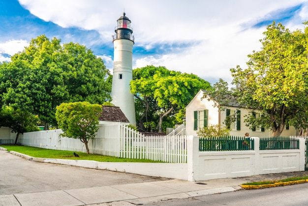 Ein key west-leuchtturm in florida usa