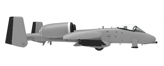 Ein kleines militärflugzeug