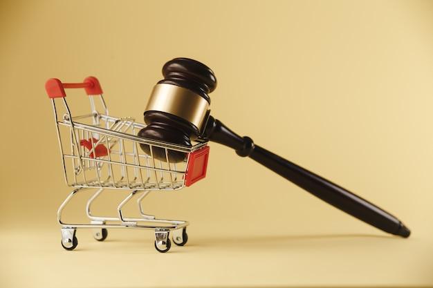 Ein konzeptbild von einkauf und recht