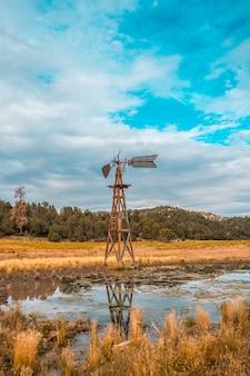 Ein ländlicher windmesser im zion-nationalpark, utah. vereinigte staaten. vereinigte staaten