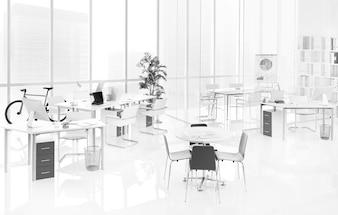 Ein leeres Büro
