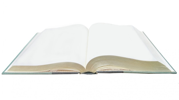 Ein leeres notizbuch geöffnet