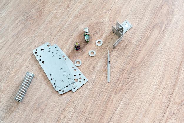 Ein metallbau-ersatzteil-detaillierter plan, werkzeug- und ausrüstungsprojekt