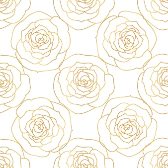 Ein nahtloses muster mit rosenblüten