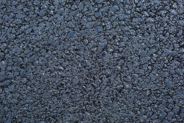 Ein neuer asphalt oder eine neue straße für autos, transportkonzept