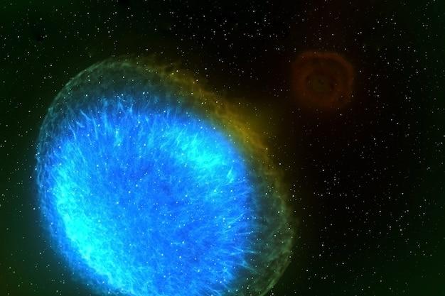 Ein neutronenstern ein pulsar auf dunklem hintergrund elemente dieses bildes wurden von der nasa bereitgestellt