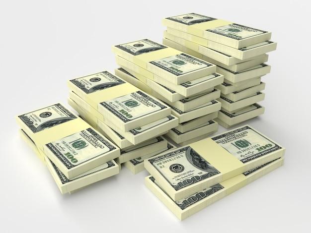 Ein paar packungen gelddollar liegen nebeneinander