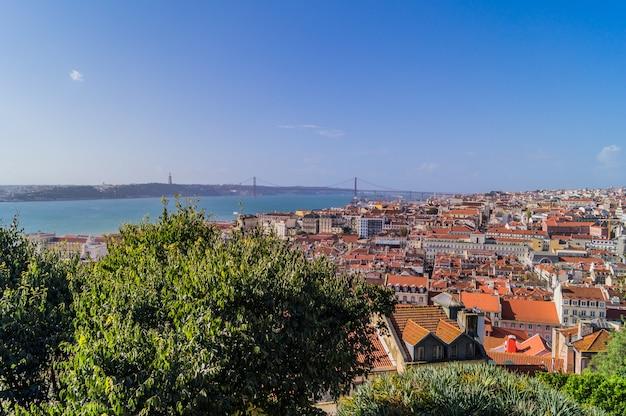 Ein panoramablick auf lissabon