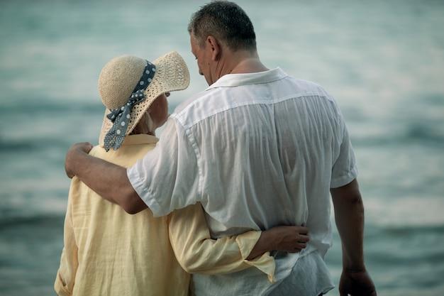 Ein romantischer moment am meer