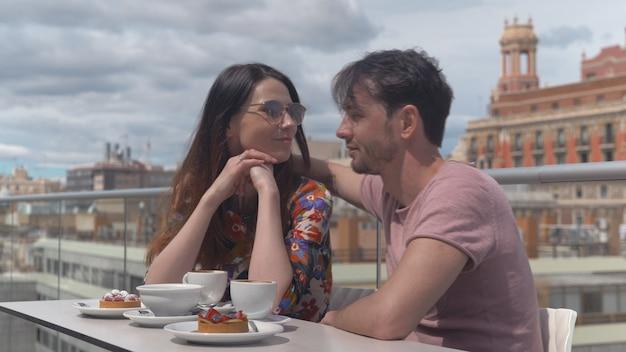 Ein romantischer moment in valencia
