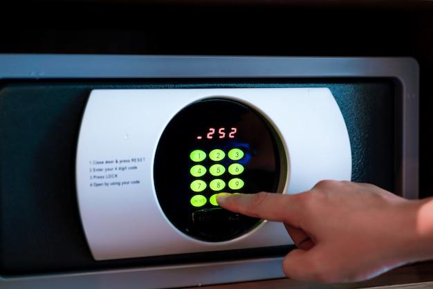 Ein safe im hotel mit passwort