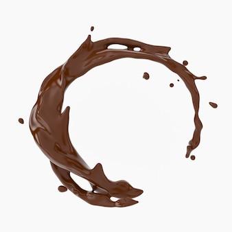 Ein schuss schokolade.