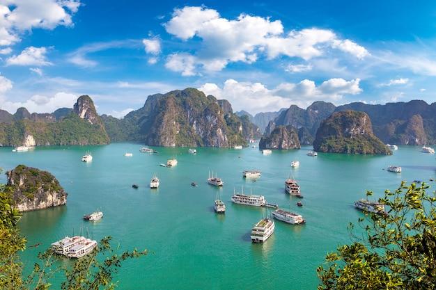 Ein sommertag in der halong bucht in vietnam
