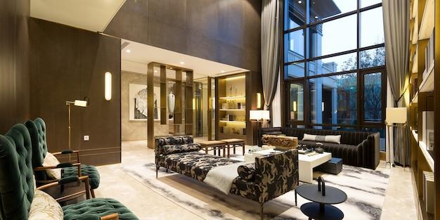 Ein strahlendes und luxuriöses wohnzimmer