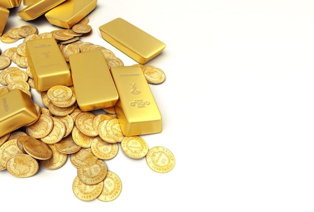 Ein vermögen in goldbarren und münzen