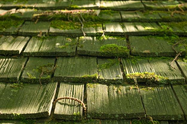 Ein von sonnenlicht getroffenes dach