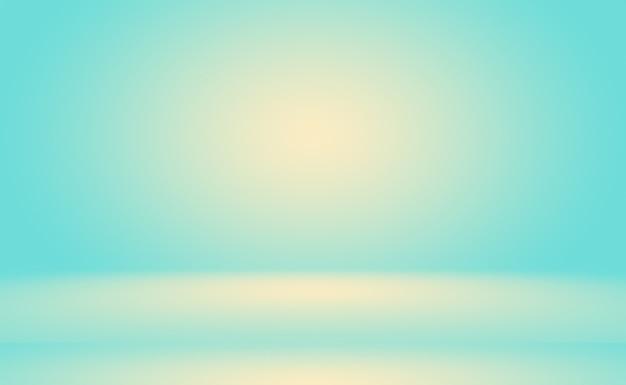 Ein weicher vintage-farbverlaufsunschärfehintergrund mit einem pastellfarbenen brunnen, der als produktpräsentation im studioraum verwendet wird ... Premium Fotos