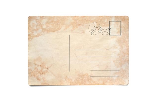 Eine alte postkarte. platz kopieren. getrennt auf weiß.