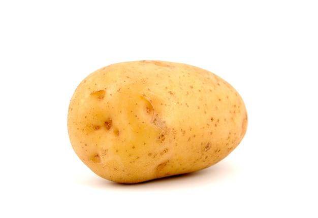 Eine backkartoffel, von der seite geschossen.