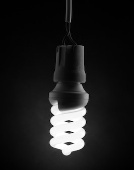 Eine beleuchtete energiesparlampe light