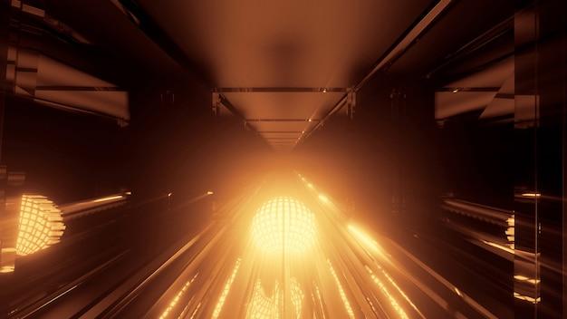 Eine coole runde futuristische sci-fi-techno-beleuchtung - perfekt für futuristische hintergründe
