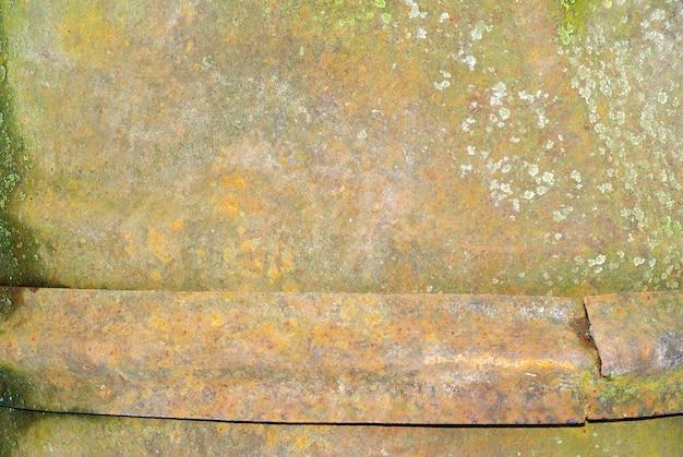 Eine farbige textur der verrosteten metallplatte