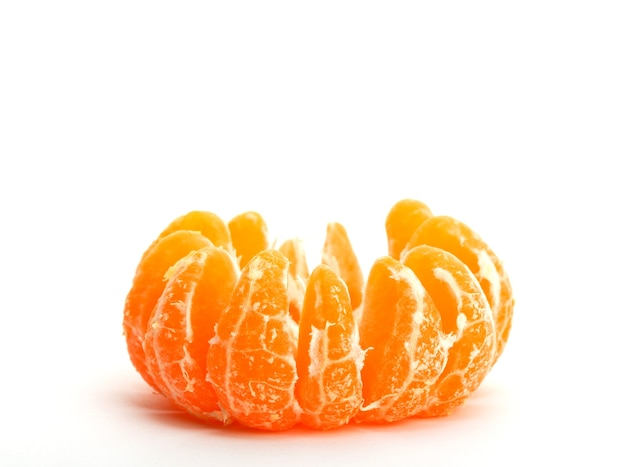 Eine geschälte mandarine