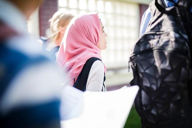 Eine gruppe muslimischer studenten