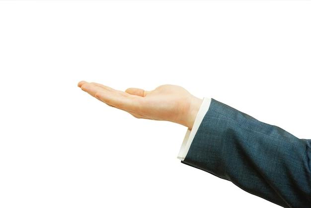 Eine hand, die um almosen bittet