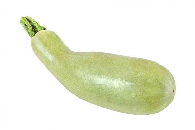 Eine hellgrüne zucchini lokalisiert