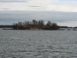 Eine insel in der nähe von helsinki, finnland