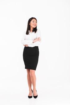 Eine lächelnde asiatische geschäftsfrau