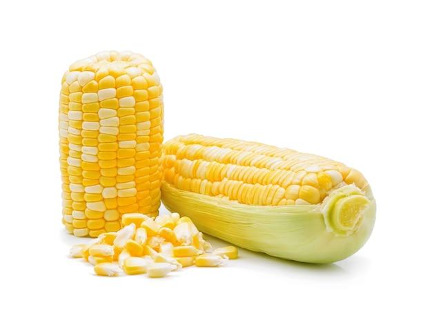 Eine maiskolben isoliert auf einem weißen