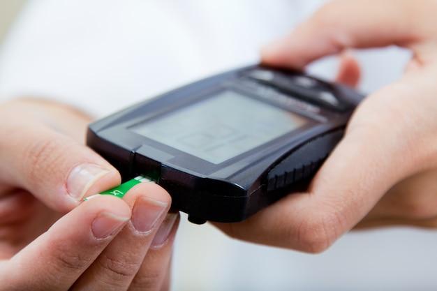 Eine mess prüfung menschlicher diabetes