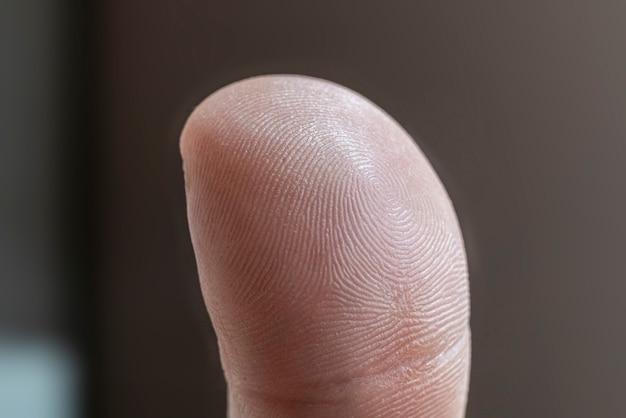 Eine nahaufnahme von menschlichen fingerabdrücken aus der nähe, datenschutzsicherheit Premium Fotos