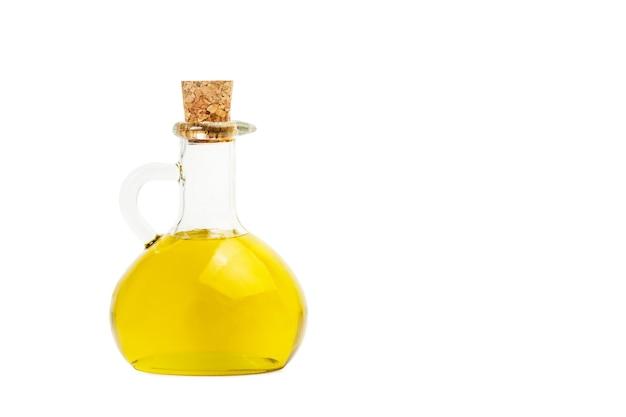 Eine ölkanne mit olivenöl mit kopierraum