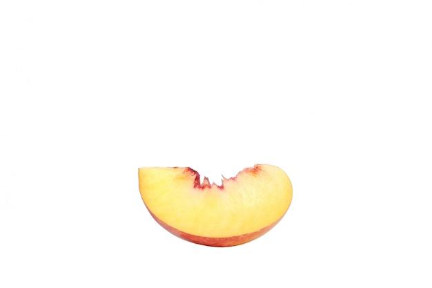 Eine pfirsichscheibe