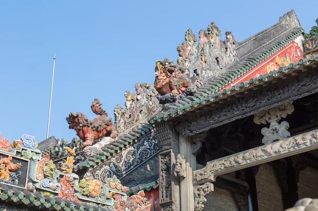Eine schöne statue von guangzhou wohnungen