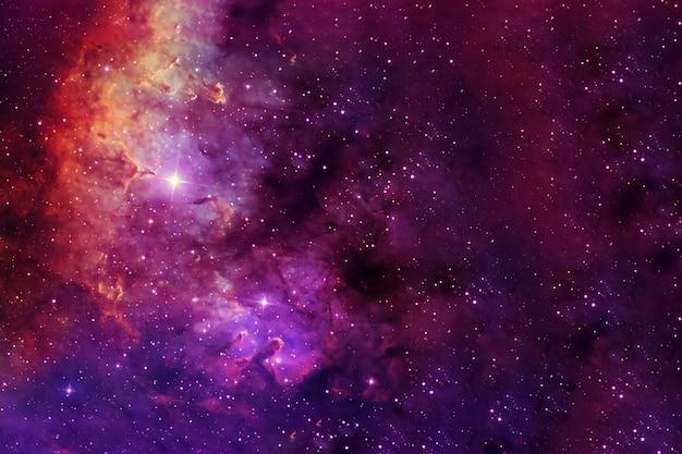 Eine wunderschöne farbige galaxie. elemente dieses bildes wurden von der nasa bereitgestellt. foto in hoher qualität