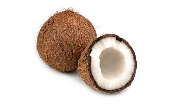 Eineinhalb kokosnüsse.