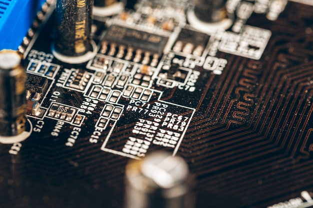 Einer elektronischen leiterplatte mit prozessor