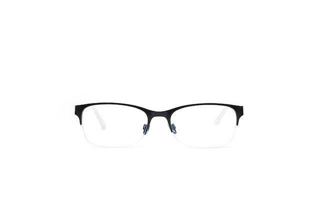 Einfache brille fett schwarzen rahmen auf der oberseite der linse