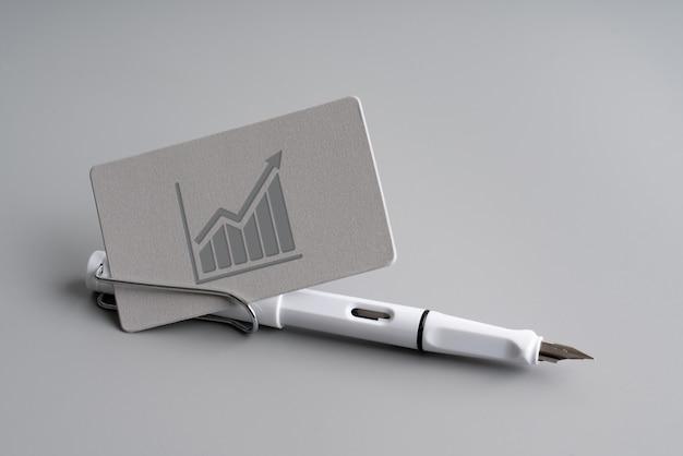 Einfache namenskarte für business & strategy icon konzept