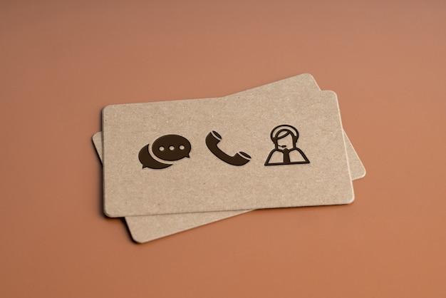 Einfache namenskarte für kontaktsymbol für globales geschäftskonzept