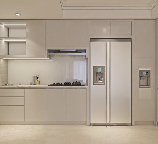 Einfache und moderne küche im minimalistischen design