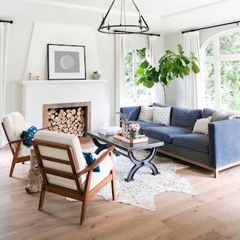 Einfache wohnzimmereinrichtung